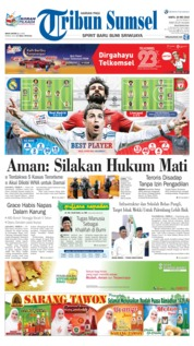 Cover Tribun Sumsel 26 Mei 2018