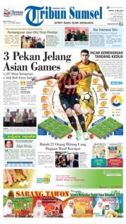 Cover Tribun Sumsel 27 Mei 2018