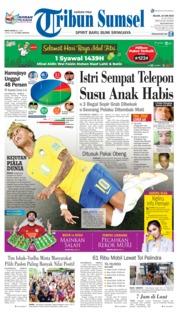 Cover Tribun Sumsel 19 Juni 2018