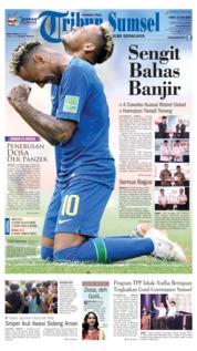 Cover Tribun Sumsel 23 Juni 2018