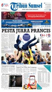 Cover Tribun Sumsel 16 Juli 2018