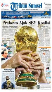 Cover Tribun Sumsel 17 Juli 2018