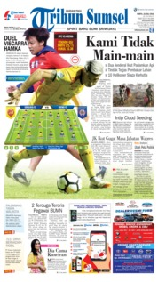 Cover Tribun Sumsel 21 Juli 2018