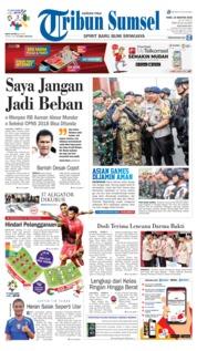 Cover Tribun Sumsel 15 Agustus 2018