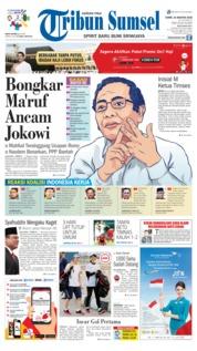Cover Tribun Sumsel 16 Agustus 2018