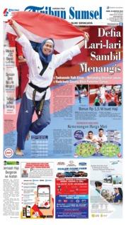 Cover Tribun Sumsel 20 Agustus 2018