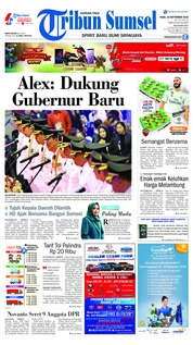 Cover Tribun Sumsel 19 September 2018