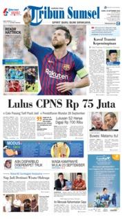 Cover Tribun Sumsel 20 September 2018
