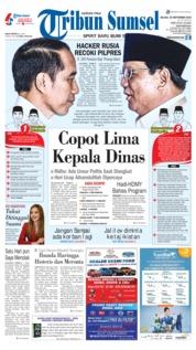 Cover Tribun Sumsel 25 September 2018