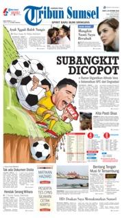 Cover Tribun Sumsel 20 Oktober 2018