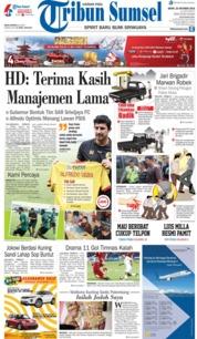 Cover Tribun Sumsel 22 Oktober 2018