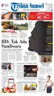 Cover Tribun Sumsel 08 November 2018