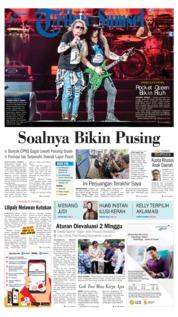 Cover Tribun Sumsel 09 November 2018