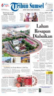 Cover Tribun Sumsel 12 Desember 2018