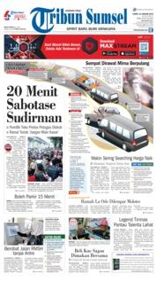 Cover Tribun Sumsel 10 Januari 2019