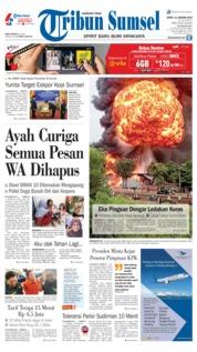 Cover Tribun Sumsel 11 Januari 2019
