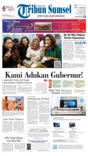 Cover Tribun Sumsel 12 Januari 2019