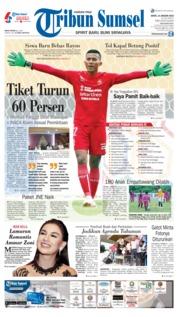 Cover Tribun Sumsel 14 Januari 2019