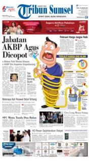 Cover Tribun Sumsel 16 Januari 2019