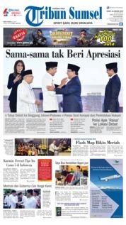 Cover Tribun Sumsel 18 Januari 2019
