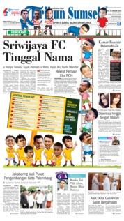 Cover Tribun Sumsel 19 Januari 2019