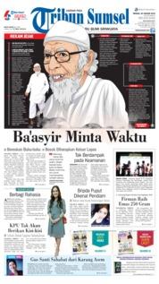 Cover Tribun Sumsel 20 Januari 2019