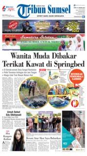Cover Tribun Sumsel 21 Januari 2019