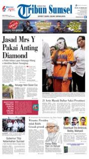 Cover Tribun Sumsel 22 Januari 2019