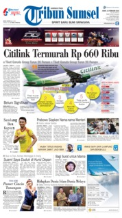 Tribun Sumsel Cover 15 February 2019