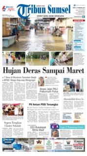 Cover Tribun Sumsel 16 Februari 2019