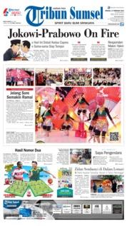 Cover Tribun Sumsel 17 Februari 2019