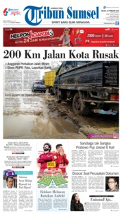Cover Tribun Sumsel 19 Februari 2019