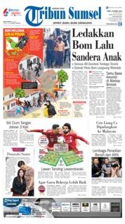 Cover Tribun Sumsel 13 Maret 2019