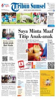 Cover Tribun Sumsel 15 Maret 2019
