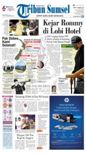 Cover Tribun Sumsel 16 Maret 2019