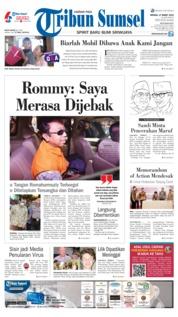 Cover Tribun Sumsel 17 Maret 2019
