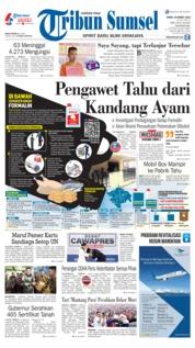 Cover Tribun Sumsel 18 Maret 2019