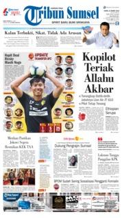 Cover Tribun Sumsel 21 Maret 2019