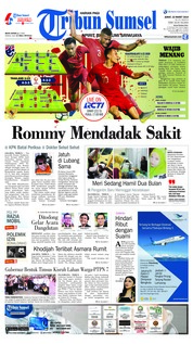 Tribun Sumsel Cover 22 March 2019