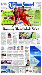Cover Tribun Sumsel 22 Maret 2019