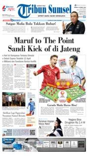 Cover Tribun Sumsel 24 Maret 2019