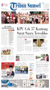 Cover Tribun Sumsel 12 April 2019