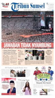 Cover Tribun Sumsel 14 April 2019