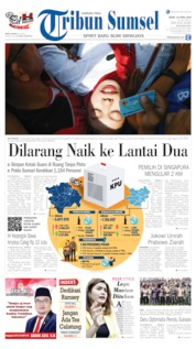 Cover Tribun Sumsel 15 April 2019