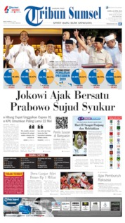 Cover Tribun Sumsel 18 April 2019