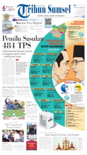 Tribun Sumsel Cover 21 April 2019