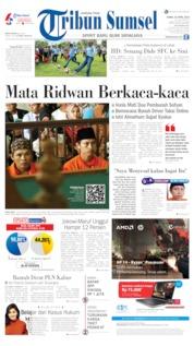 Cover Tribun Sumsel 25 April 2019