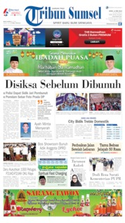 Cover Tribun Sumsel 13 Mei 2019