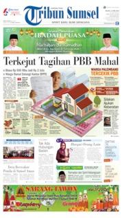 Cover Tribun Sumsel 14 Mei 2019