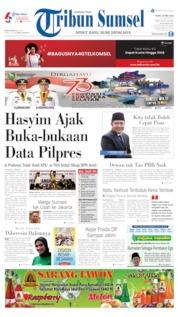 Cover Tribun Sumsel 15 Mei 2019